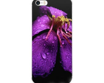 Phone Accessories/Floral iPhone case /Morning Dew/Purple Flower iPhone Case 5 case/ iPhone Case 6, 7, 8 plus iPhone