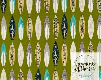 Riley Blake Offshore Surfboard Fabric // Quilting Cotton // Cotton Woven // 100% cotton // Surfboard Fabric