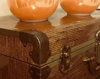 Vintage FireKing Peach Luster Small Bowls