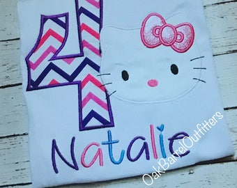 Hello Kitty Birthday Shirt / Hello Kitty / Girls Birthday Shirt / Customizable Birthday Shirt