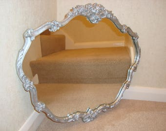 A Vintage Atsonea silver ornate mirror