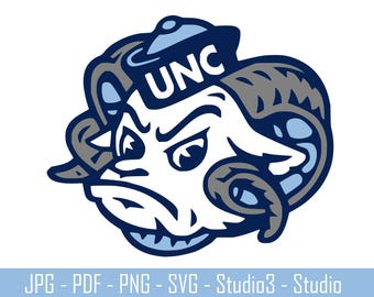 North Carolina, Tar Heels, College Sports, Basketbal, Footballl - Cut Files - SVG, PNG, Studio - Silhoutte. Cricut and More - CS046