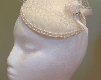 Beautiful handmade bridal birdcage veil