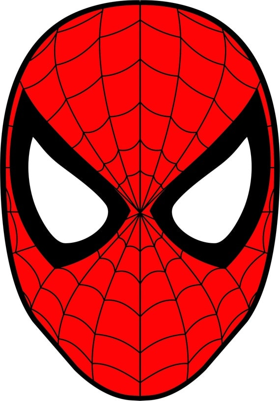 Spiderman mask superhero svg dxf logo scalable silhouette - Image spiderman ...