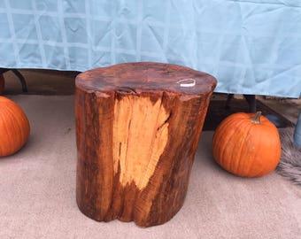 Live Edge Wood Stump Seat Stool