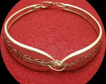Vintage Silverware double-spoon bracelet