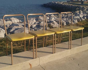 Vintage Cosco Folding Gate Leg Chairs (4)
