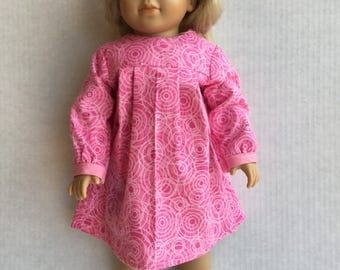 "Flannel nightgown for 18"" doll."