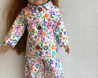 "2 piece flannel pajamas fit 18"" dolls"