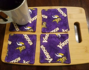 Quilted Coasters - Minnesota Vikings - Set of 4