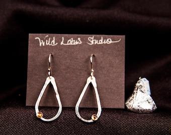 sterling silver & citrine teardrop earrings