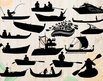 Boats Svg, Boats Silhouettes Svg, Dxf, Eps & Png Cutfiles, Boats files for Cricut, Silhouette cameo, bundle, Viking Boat clipart