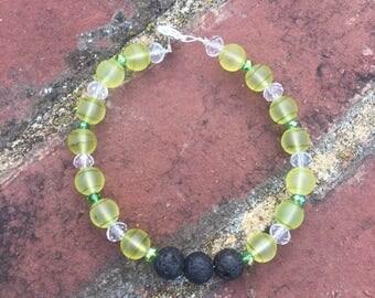 Green Essential Oil Bracelet