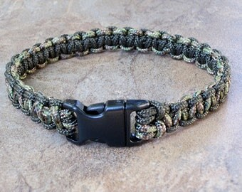 "325 (1/8"") Paracord Dog Collar (Cobra Weave w/ Buckle) by Perfectly Paracord - Pick Your Colors !!"