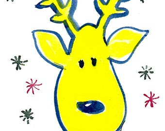 Snowy Reindeer Seasonal Cards - 25 per pack