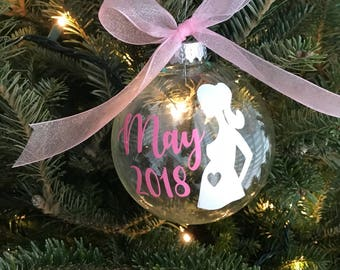 Expecting Christmas Ornaments - Pregnancy Christmas Ornaments - Christmas Ornaments - Personalized Christmas Gift