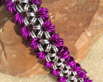 Fancy Japanese lace chainmaille bracelet