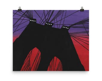 The Brooklyn Bridge - Beautiful Archival Cotton Rag Fine Art Giclée Print Supporting the Nonprofit Fresh Artists