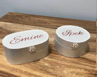 Personalised jewellery/bridesmaid trinket box