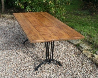 Kitchen Dining Table with Cast Iron