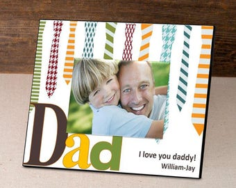 Personalized Ties Father's Day Frame - Father's Day Gifts - Dad Photo Frames - Dad Picture Frames - Personalized Dad Photo Frames - Frames