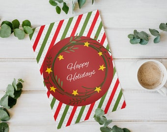 Christmas card, Merry Christmas Happy Holidays