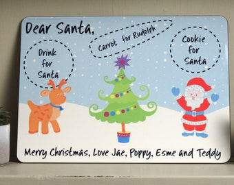 Santa Plate, Christmas Eve Board, Santa Board, Father Christmas Plate, Milk for Santa, Carrot For Rudolph, Personalised and made to order