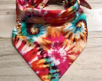 Spring Tie-Dye Dog Bandana