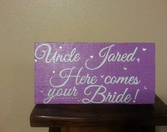Walking Down the Aisle Sign