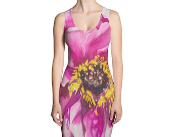Pink Flower Sublimation Cut & Sew Dress