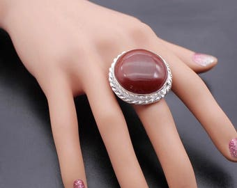 Silver 925 ring with Carneeol Carnelian Stone