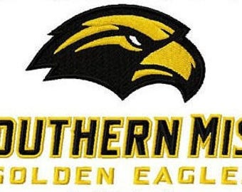 Southern Miss Golden Eagles embroidery design logo / embroidery designs / INSTANT download machine embroidery pattern