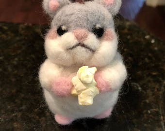 Adorable felted hamster