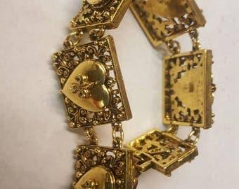 Vintage 6 locket bracelet