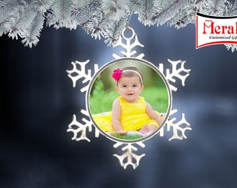 Photo Ornament Snowflake shape