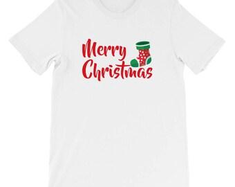 Merry Cristmas Socks shirt Short-Sleeve Unisex T-Shirt