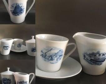 Super leuke oerhollandse koffie of thee set van Bavaria midcentrury