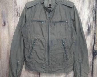 Vintage Diesel jacket army style motor jacket