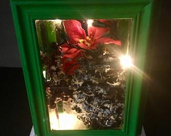 Green Lighted Christmas Lantern