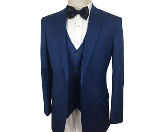 Custom Fitted Suit in Blue