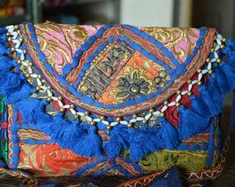 Banjara Vintage Indian Clutch Bag Patchwork Tribal Bohemian Purse Stylish Gypsy BB19