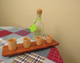 Wooden Shot Glass Set