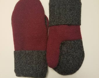 100% Wool Mittens w/ Polar Tech Fleece Lining
