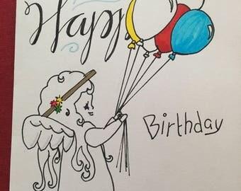 Birthday and Balloons