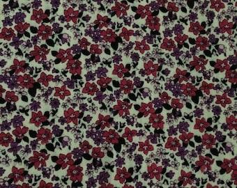 Pink and purple floral print viyella