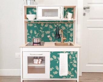 IKEA DUKTIG Removable Green Floral Pattern | Ikea Decals | Furniture  Stickers | Furniture Decals Set
