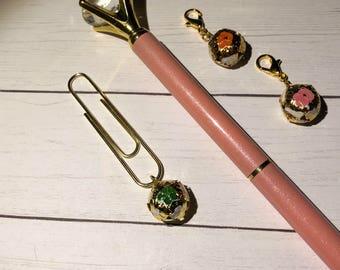Planner Charm - Midori - Travelers Notebook - Zipper Charm - Journal - TN - Notebook