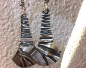 Sterling Silver Earrings with Texture Design