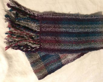 Scarf, Handwoven, Stormy Skies