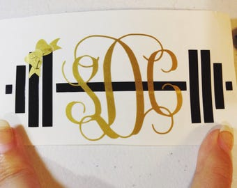 Monogram workout decal